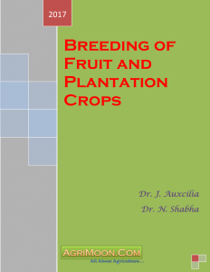 Cover Breeding of Fruit and Plantation Crops