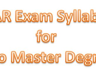 ICAR EXAM syllabus for PG