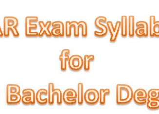 ICAR EXAM syllabus for UG