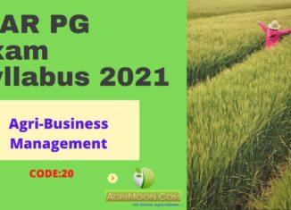 ICAR PG Exam Syllabus - Agri Business Management