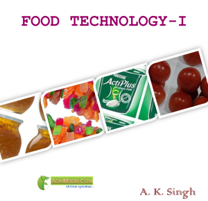 cover page of Food technology pdf book